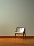 Alone chair  in minimalist interior poster