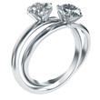 Diamond rings intertwined