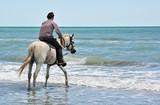 tourisme équestre a la plage poster