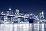 Fototapety Brooklyn Bridge and Manhattan skyline At Night, New York City