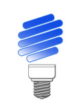 Blue Eco Light Bulb
