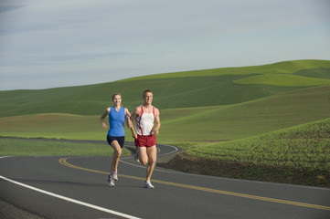 Runner on Rural Road