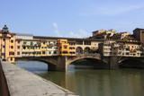 Medieval bridge Ponte Vecchio in Florence poster