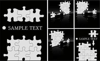the vector abstract puzzle background set