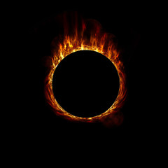 Burning ball