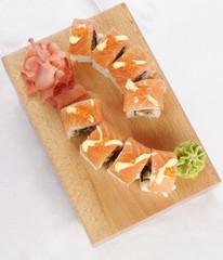 Sushi sake Futomako top view