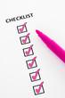 Pink checklist