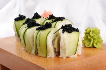 Shushi and black caviar