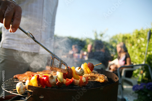 Foto Spatwand Barbecue Grillsaison