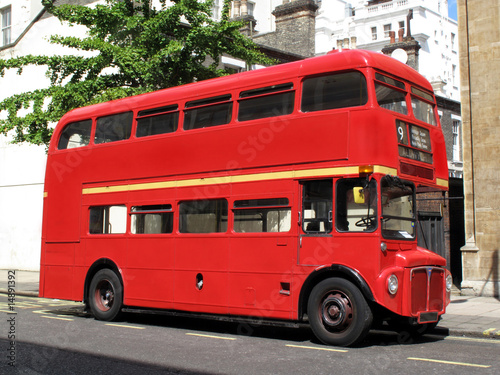 Deurstickers Londen rode bus London Routemaster red double decker bus