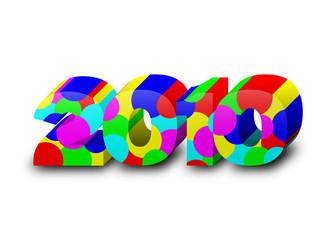 2010 3d multicolore