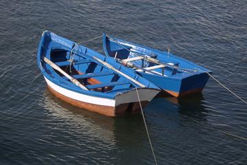 Traditional fishing boats. Galicia, Spain