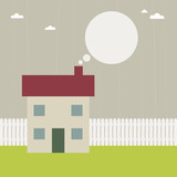 house with speech bubble