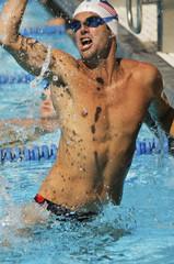 Winning Swimmer