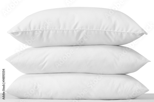Three soft pillows. Clipping path. - 14893554