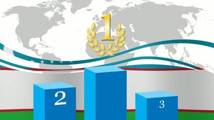Podio Uzbekistan
