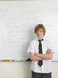 High School Student in Front of Whiteboard