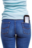 Smartphone in womans rear pocket poster