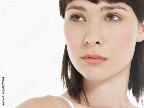 Young Brunette Woman, close up