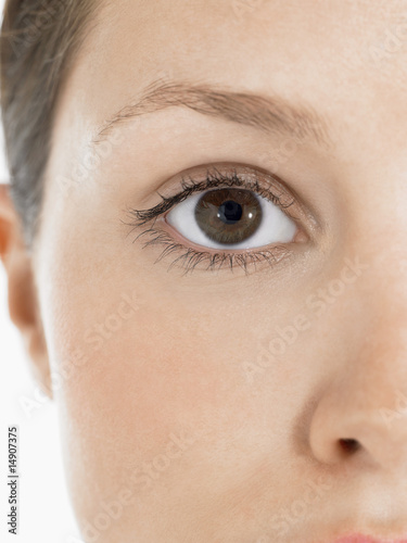 Eye of young woman, close up
