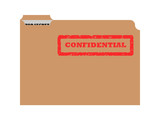 Opened confidential envelope poster