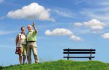 happy seniors, active retirement poster