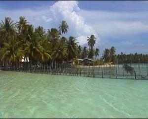 lagon turquoise polynésien
