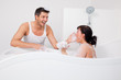 couple in bath tub