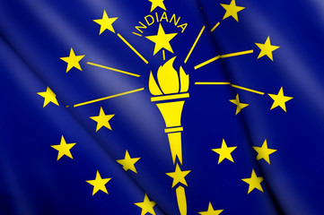 Flag pin - Indiana (USA)