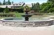 Leinwanddruck Bild - garden fountain