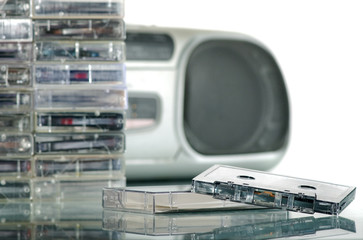 The tape recorder and audiocassettes