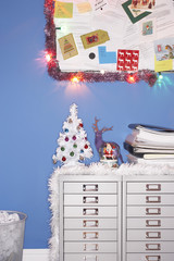 Christmas decorations in office