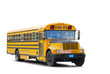 canvas print picture - traditional schoolbus
