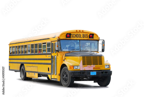 canvas print picture traditional schoolbus
