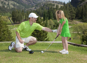 Father and Daughter Golf Lesson