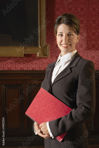 Woman in Conference Room, standing