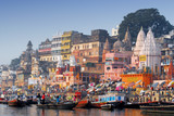 main ghat at varanasi india