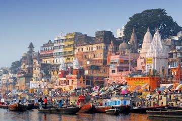 głównych ghat w varanasi w Indiach