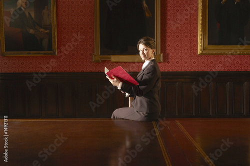 Woman in Elegant Conference Room