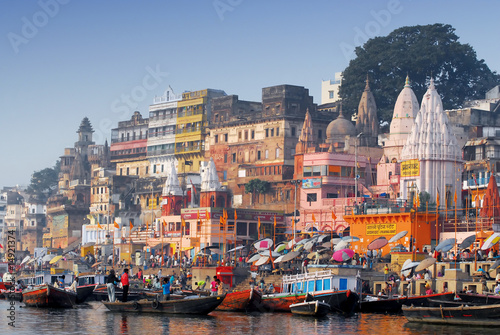 main ghat at varanasi india