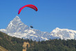 paraglide in nepal with himalaya background - 14921555