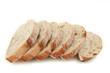 pain au levain tranché sur fond blanc