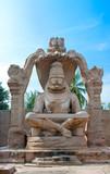 statue of Lakshmi Narasimha, incarnation of Lord Vishnu poster