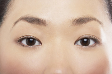 Young Asian woman's eyes
