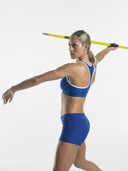 Woman Throwing Javelin