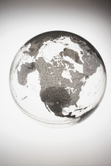 Inflatable Globe showing North America
