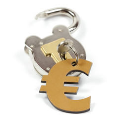 KEY, lock and euro sign