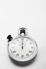Stopwatch on white background, studio shot