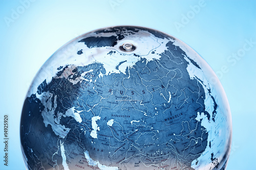 Inflatable Globe showing Russia