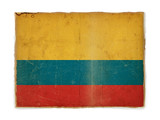 grunge flag of Colombia poster